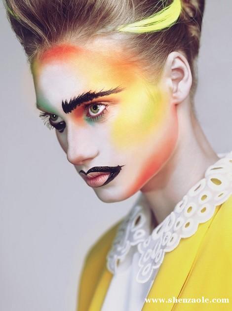 创意手绘妆面图