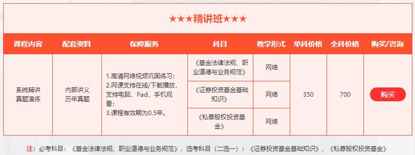 北京基金从业资格培训多少钱